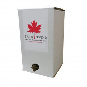 4L white box of Pure Maple Syrup with serving tap
