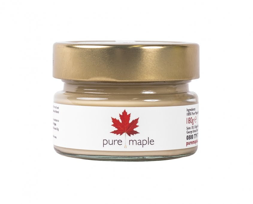 jar of maple butter, gold top