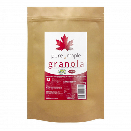large bag of maple syrup granola