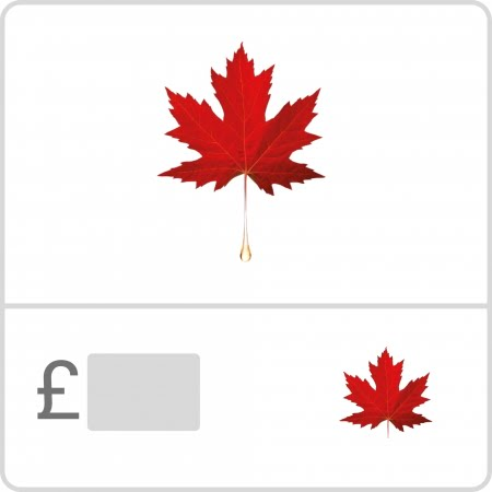 Gift Voucher / Gift Card / Coupon with Pure Maple logo