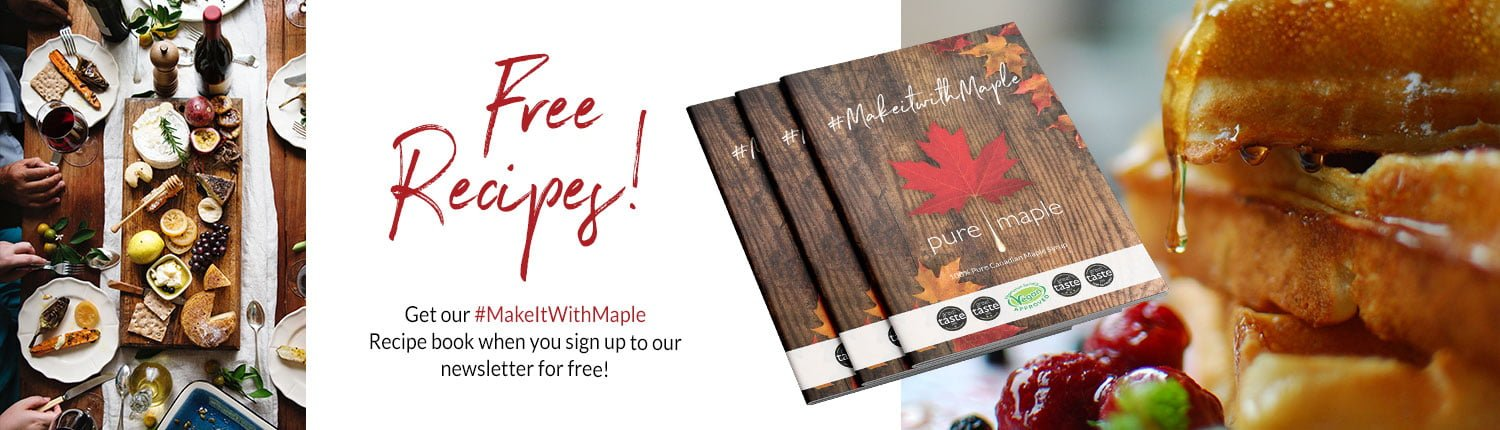 Free Recipes - Recipe book when you sign up to our newsletter for free
