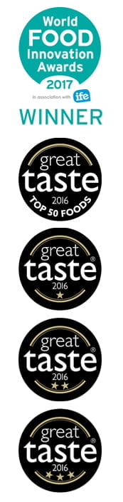 World Food Innovation Awards 1027 Winner, Great Taste 2016 Award Top 50 Foods, Great Taste Award Winner 2016
