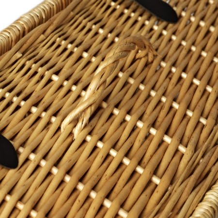18 Inch Wicker Hamper Gift Basket - handle detail