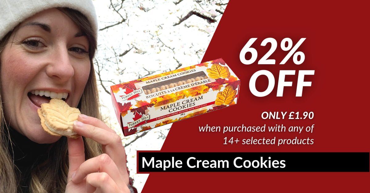 62% Maple Cream Cookies